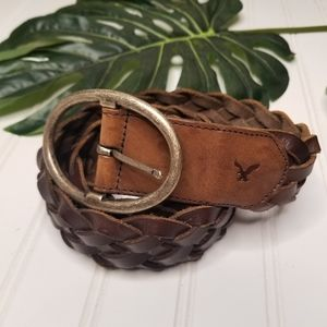 American Eagle braided leather belt